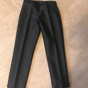 Talbots Petites Black Silk Blend Ankle Pant